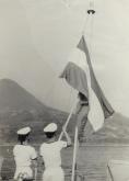 Vlag-hijsen-Japan-1953